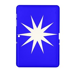 Deep Blue And White Star Samsung Galaxy Tab 2 (10 1 ) P5100 Hardshell Case