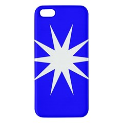 Deep Blue And White Star iPhone 5S Premium Hardshell Case