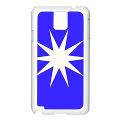Deep Blue And White Star Samsung Galaxy Note 3 N9005 Case (White)