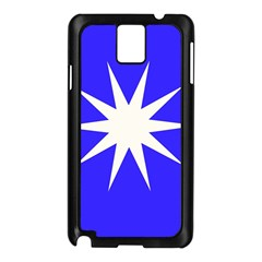Deep Blue And White Star Samsung Galaxy Note 3 N9005 Case (Black)