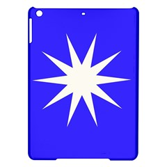 Deep Blue And White Star Apple iPad Air Hardshell Case