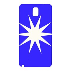 Deep Blue And White Star Samsung Galaxy Note 3 N9005 Hardshell Back Case