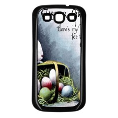 Victorian Easter  Samsung Galaxy S3 Back Case (Black)
