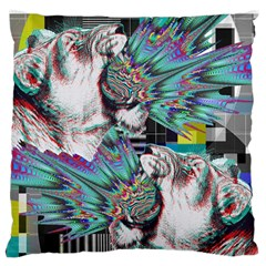 Lioness Glitch Large Cushion Case (Single Sided)