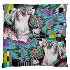 Lioness Glitch Large Cushion Case (Two Sided)