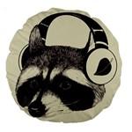 Raccoon 18  Premium Round Cushion  Back