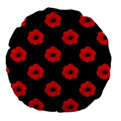 Poppies 18  Premium Round Cushion
