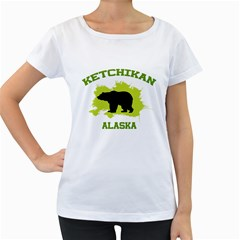 Ketchikan  Ak Women s Loose Fit T Shirt (white)