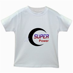 Super Power Kids T Shirt (white)