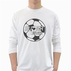Super Power 2 Men s Long Sleeve T Shirt (white)