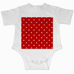 White Stars On Red Infant Bodysuit