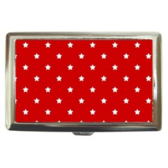 White Stars On Red Cigarette Money Case