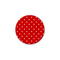 White Stars On Red Golf Ball Marker 10 Pack