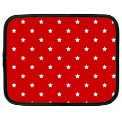 White Stars On Red Netbook Sleeve (large)