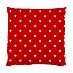 White Stars On Red Cushion Case (Two Sided)