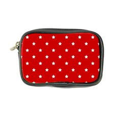 White Stars On Red Coin Purse