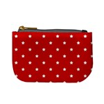 White Stars On Red Coin Change Purse Front