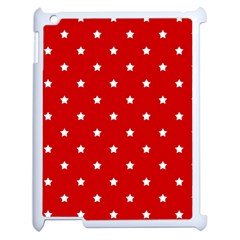 White Stars On Red Apple iPad 2 Case (White)
