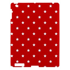 White Stars On Red Apple iPad 3/4 Hardshell Case