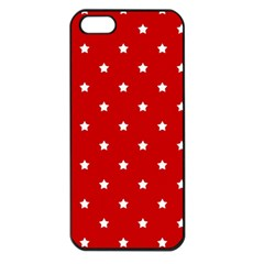White Stars On Red Apple iPhone 5 Seamless Case (Black)