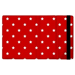 White Stars On Red Apple iPad 2 Flip Case