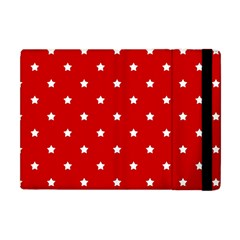 White Stars On Red Apple iPad Mini Flip Case