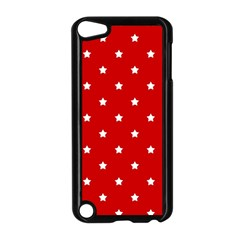 White Stars On Red Apple iPod Touch 5 Case (Black)