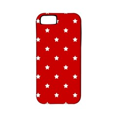 White Stars On Red Apple Iphone 5 Classic Hardshell Case (pc+silicone)