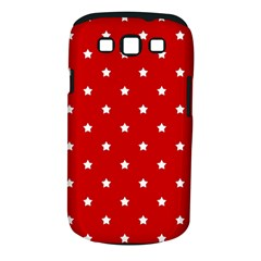 White Stars On Red Samsung Galaxy S Iii Classic Hardshell Case (pc+silicone)