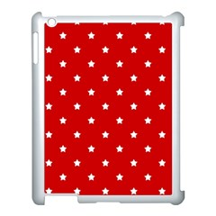 White Stars On Red Apple Ipad 3/4 Case (white)