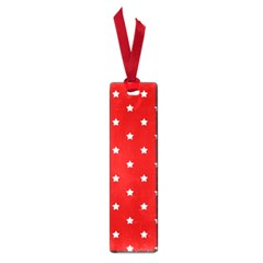 White Stars On Red Small Bookmark