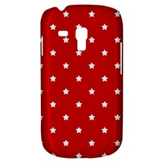 White Stars On Red Samsung Galaxy S3 Mini I8190 Hardshell Case