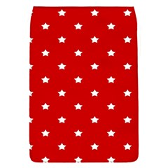 White Stars On Red Removable Flap Cover (Small)