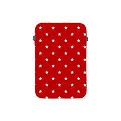 White Stars On Red Apple Ipad Mini Protective Sleeve