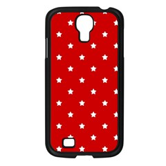 White Stars On Red Samsung Galaxy S4 I9500/ I9505 Case (Black)