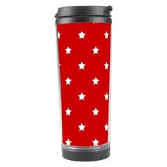 White Stars On Red Travel Tumbler