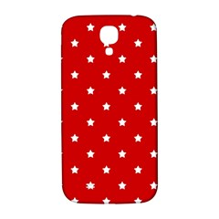 White Stars On Red Samsung Galaxy S4 I9500/I9505  Hardshell Back Case