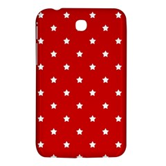 White Stars On Red Samsung Galaxy Tab 3 (7 ) P3200 Hardshell Case