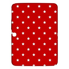 White Stars On Red Samsung Galaxy Tab 3 (10.1 ) P5200 Hardshell Case