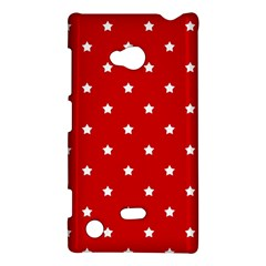 White Stars On Red Nokia Lumia 720 Hardshell Case