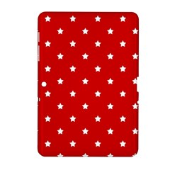 White Stars On Red Samsung Galaxy Tab 2 (10.1 ) P5100 Hardshell Case