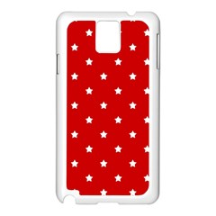 White Stars On Red Samsung Galaxy Note 3 N9005 Case (white)