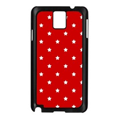 White Stars On Red Samsung Galaxy Note 3 N9005 Case (black)