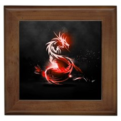 Abstract Red Dragon  Framed Ceramic Tile