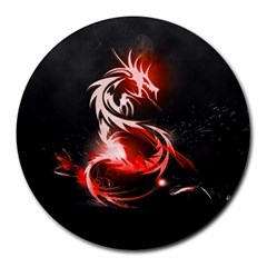 Abstract Red Dragon  8  Mouse Pad (round)
