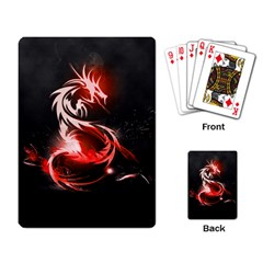 Abstract Red Dragon  Playing Cards Single Design