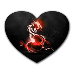 Abstract Red Dragon  Mouse Pad (heart)