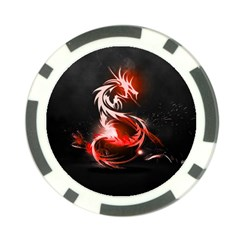 Abstract Red Dragon  Poker Chip