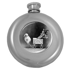 Victorian Easter Hip Flask (Round)