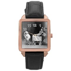 Victorian Easter Rose Gold Leather Watch
